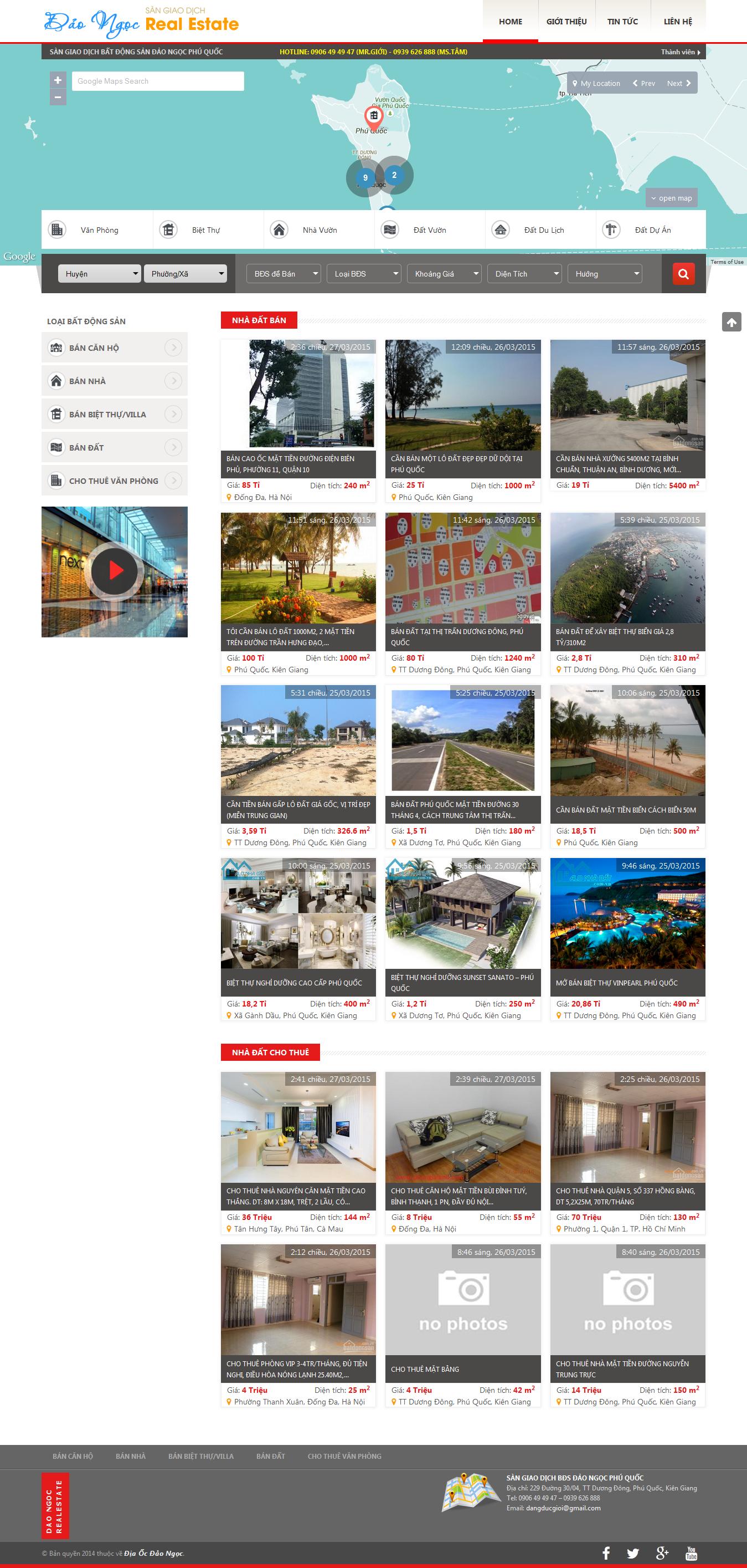 Website Địa ốc đảo ngọc