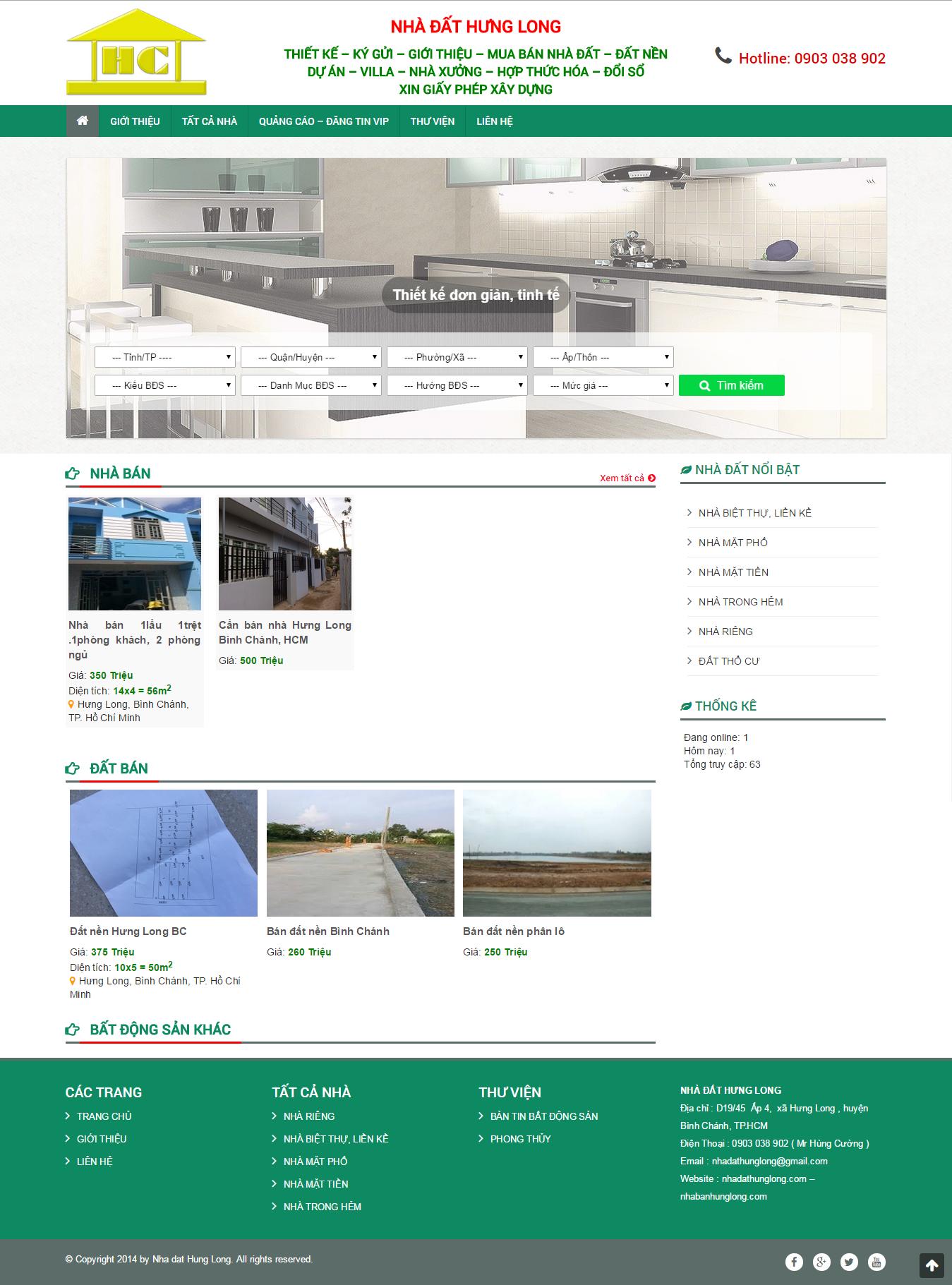Website nhà đất Hưng Long